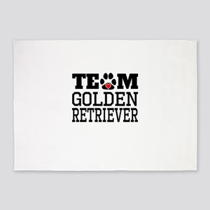 Team Golden Retriever 5'x7'Area Rug