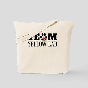 Team Yellow Lab Tote Bag