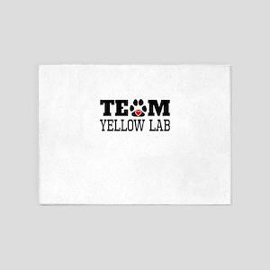 Team Yellow Lab 5'x7'Area Rug