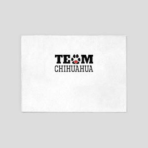 Team Chihuahua 5'x7'Area Rug