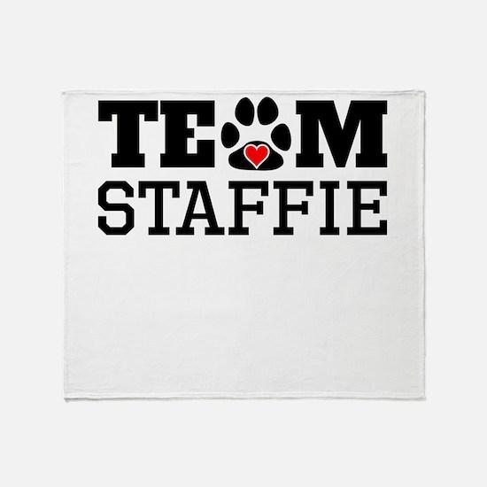 Team Staffie Throw Blanket