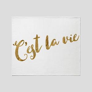 Golden Look C'est La Vie Throw Blanket