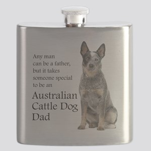 Cattle Dog Dad Flask
