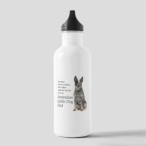 Cattle Dog Dad Water Bottle