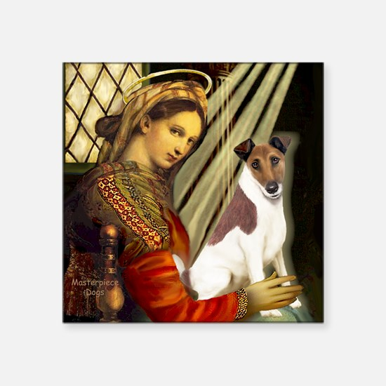 "Madonna-Fox T (B) Square Sticker 3"" x 3"""