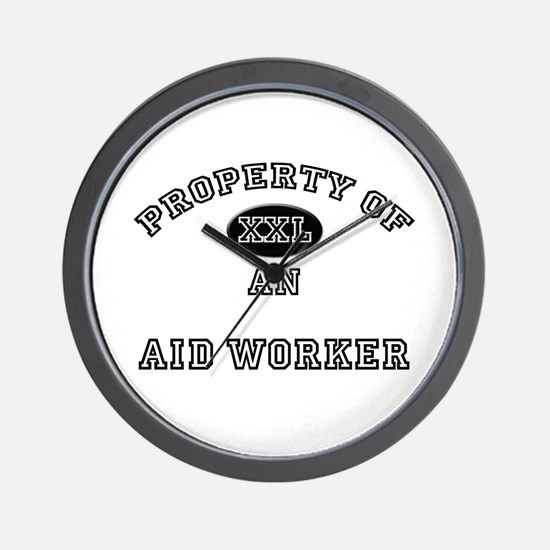 Property of an Aid Worker Wall Clock