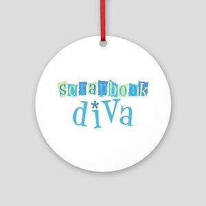 Scrapbook Diva Ornament (Round)