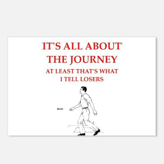 horseshoes joke Postcards (Package of 8)