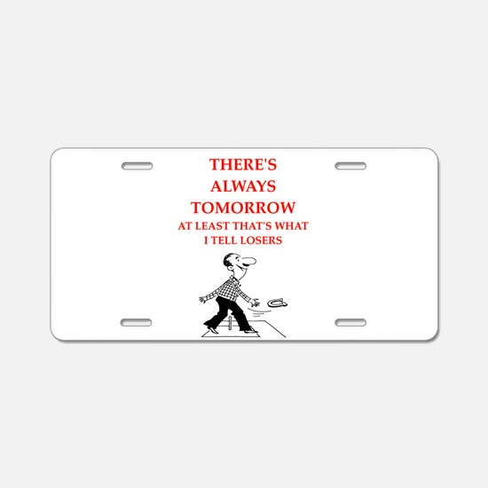 horseshoes joke Aluminum License Plate