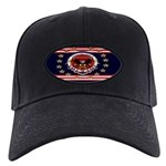President Trump Black Cap with Patch