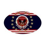 President Trump Oval Car Magnet