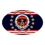 President Trump Sticker (Oval 10 pk)