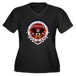 President Tr Women's Plus Size V-Neck Dark T-Shirt