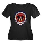 Presiden Women's Plus Size Scoop Neck Dark T-Shirt