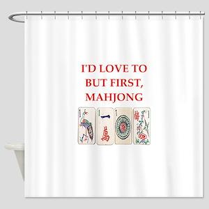 mahjong joke Shower Curtain