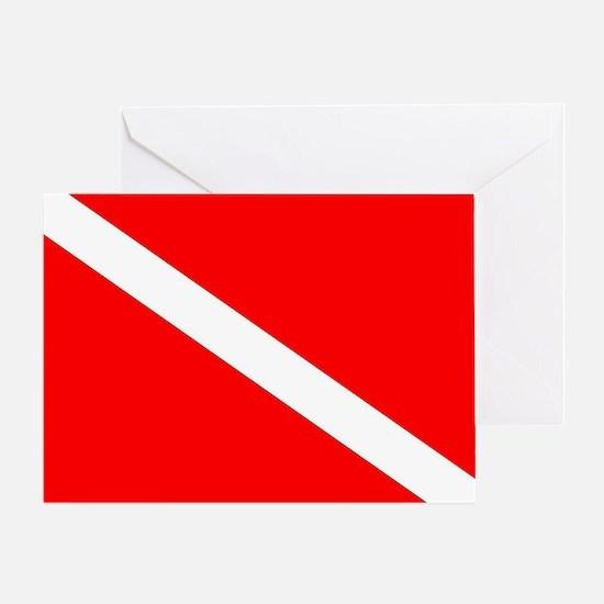 Cute Dive flag Greeting Card