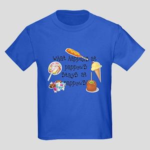 What Happens at Pappou's... Kids Dark T-Shirt
