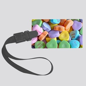 Colorful Candy Hearts Luggage Tag