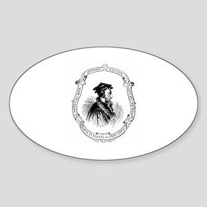 John Calvin Profile in Frame Sticker