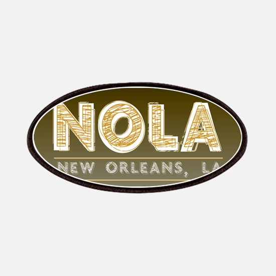 NOLA New Orleans Black and Gold Shaded Patch