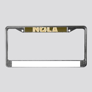 NOLA New Orleans Black and Gol License Plate Frame