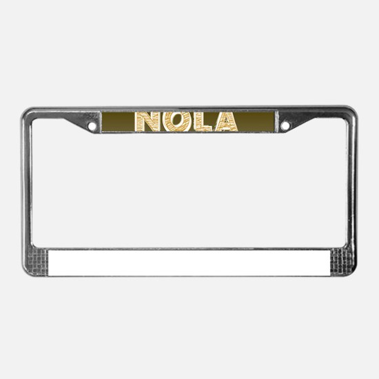 NOLA New Orleans Black and Gol License Plate Frame