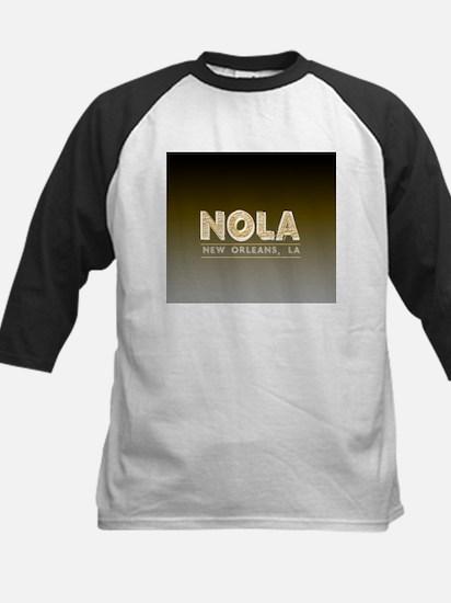 NOLA New Orleans Black and Gold Sh Baseball Jersey