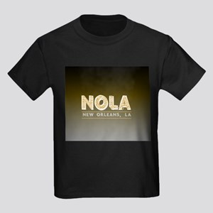 NOLA New Orleans Black and Gold Shaded T-Shirt
