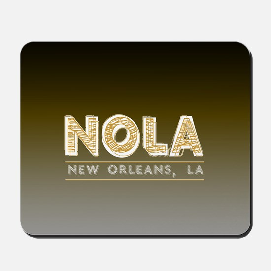 NOLA New Orleans Black and Gold Shaded Mousepad