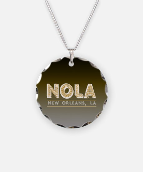 NOLA New Orleans Black and G Necklace