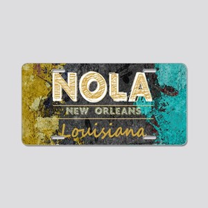 NOLA New Orleans Black Gold Aluminum License Plate