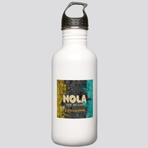 NOLA New Orleans Black Stainless Water Bottle 1.0L