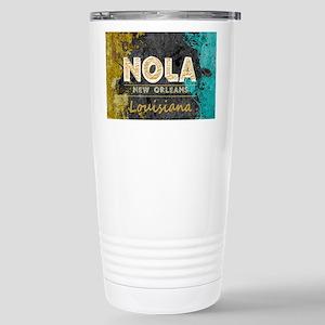 NOLA New Orleans Black Stainless Steel Travel Mug