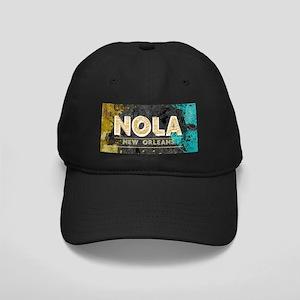 NOLA New Orleans Black Gold Turquoise Gr Black Cap