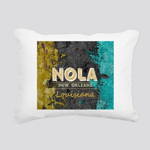 NOLA New Orleans Black G Rectangular Canvas Pillow