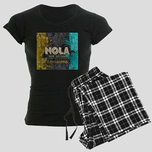 NOLA New Orleans Black Gold Women's Dark Pajamas