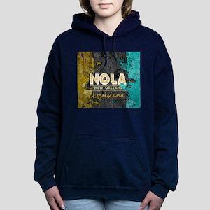 NOLA New Orleans Black G Women's Hooded Sweatshirt