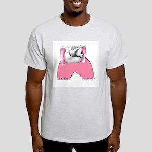 Pink Elephant Ash Grey T-Shirt