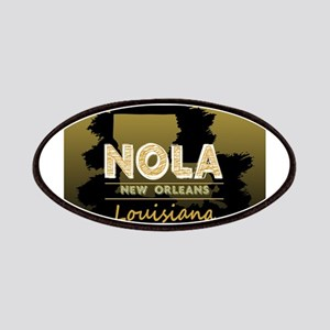 NOLA Black Brush over Gold Black Shaded Patch