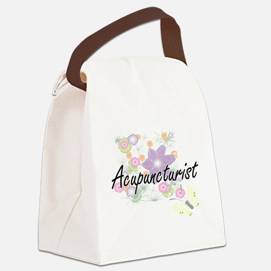 Acupuncturist Artistic Job Design Canvas Lunch Bag