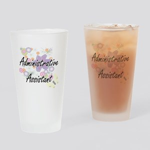 Administrative Assistant Artistic J Drinking Glass