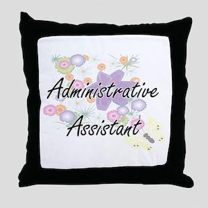 Administrative Assistant Artistic Job Throw Pillow