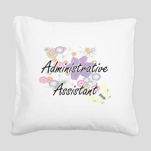 Administrative Assistant Arti Square Canvas Pillow