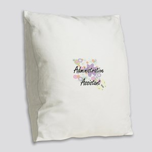 Administrative Assistant Artis Burlap Throw Pillow
