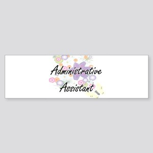 Administrative Assistant Artistic J Bumper Sticker