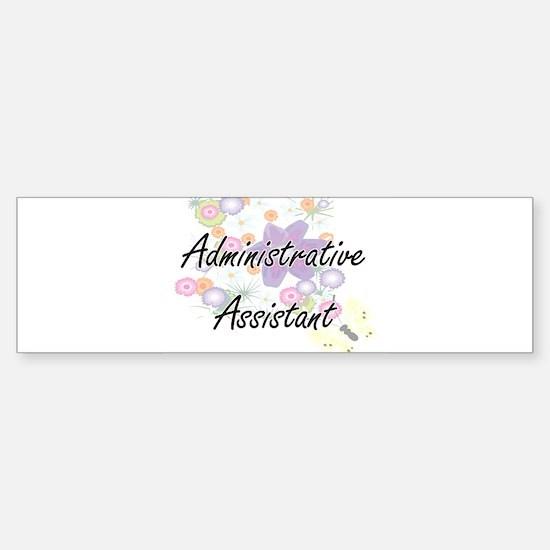 Administrative Assistant Artistic J Bumper Bumper Bumper Sticker