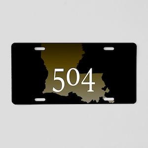 NOLA 504 Louisiana Aluminum License Plate