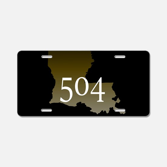 NOLA 504 Louisiana Aluminum License Plate
