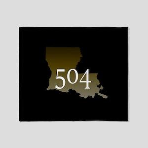 NOLA 504 Louisiana Throw Blanket