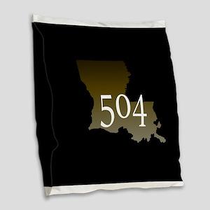 NOLA 504 Louisiana Burlap Throw Pillow